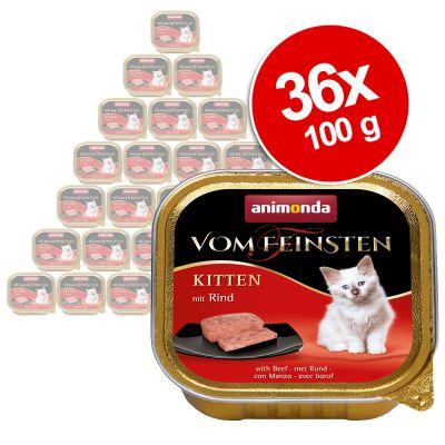 Animonda vom Feinsten Kitten -säästöpakkaus 36 x 100 g - lammas