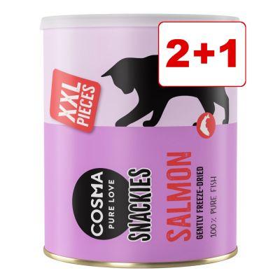 Cosma Snackies & Cosma Snackies XXL Maxi Tube: 2 + 1 kaupan päälle! - 3 x Cosma Snackies XXL vaalea kala (330 g)