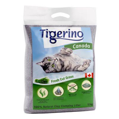 Tigerino Canada -kissanhiekka, vastaleikattu ruoho - 12 kg