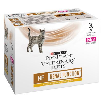 Purina Pro Plan Veterinary Diets Feline NF ST/OX - Renal Function, kana - 10 x 85 g