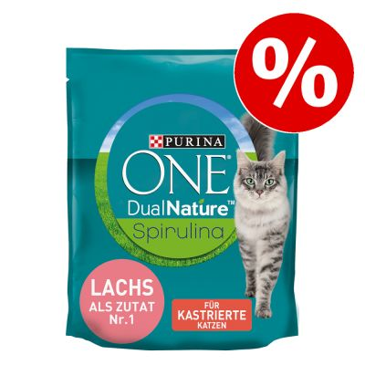 2 x 1,4 kg Purina ONE Dual Nature erikoishintaan! - Sterilized Beef & Spirulina (2 x 1,4 kg)