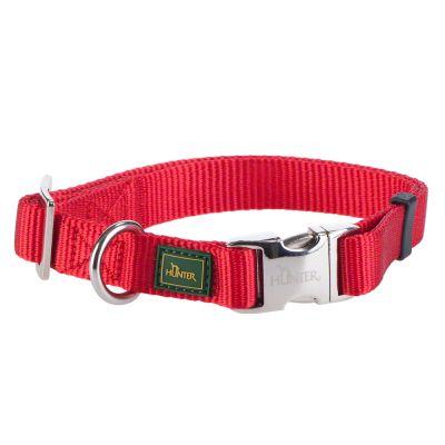 HUNTER Vario Basic Alu-Strong -nailonpanta, punainen - M-koko: kaulanympärys 40 - 55 cm, leveys 20 mm