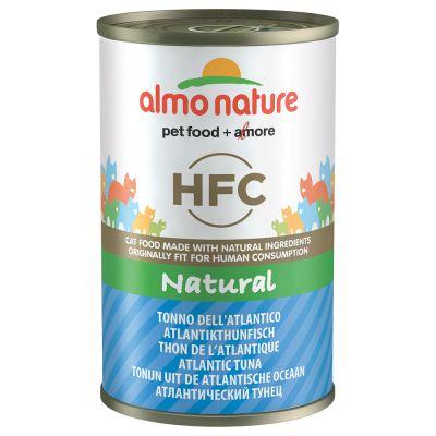 Image of 20 + 4 gratis! 24 x 140 g Almo Nature HFC Natural 3,36 kg - Huhn & Garnelen