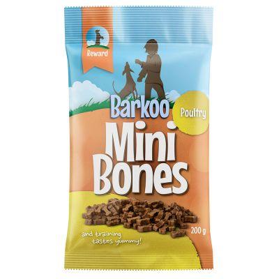 Image of 1 + 1 gratis! 2 x 200 g Barkoo Mini Bones (semi-moist) - mit Geflügel