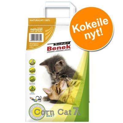 Super Benek -kissanhiekka - kokeilupakkaus 7 l - Corn Cat Natural