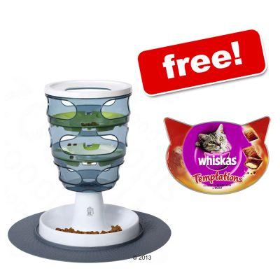 Catit Design Senses Food Maze + Whiskas Temptations Free!* - Cat Toy + Treat Free!