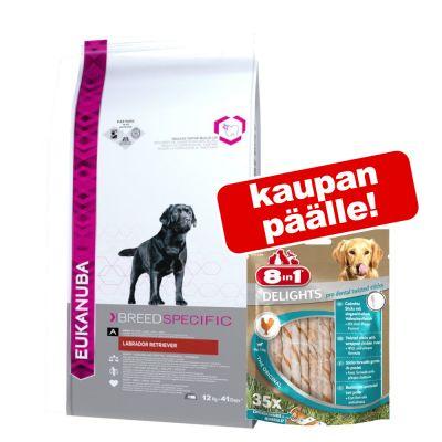 Eukanuba Adult Breed Specific koiranruoka + 8in1-herkut kaupan päälle! - Jack Russell Terrier (2 kg) + Fillets Pro Skin & Coat (80 g)