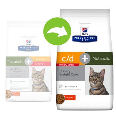 Hill´s Prescription Diet Feline Metabolic + Urinary Stress Weight + Urinary Care - kana - 1,5 kg