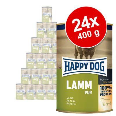 Happy Dog Pur -säästöpakkaus 24 x 400 g - vuohi