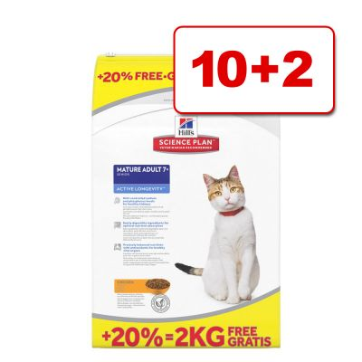 12 kg Hill's Science Plan -bonuspakkaus: 10 + 2 kg kaupan päälle! - Adult Chicken