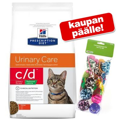 Hill´s Prescription Diet kissanruoka + lelusetti kaupan päälle! - T/D (5 kg)
