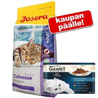 10 kg Josera + Gourmet Perle -lajitelma 4 x 85 g kaupan päälle! - Nature Cat