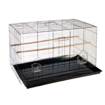 Fågelbur Finca Pequeno – Svart: B 76 x D 45 x H 45 cm