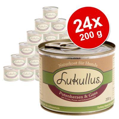 Ekonomipack: Blandade sorter Lukullus 24 x 200 g – Variant II