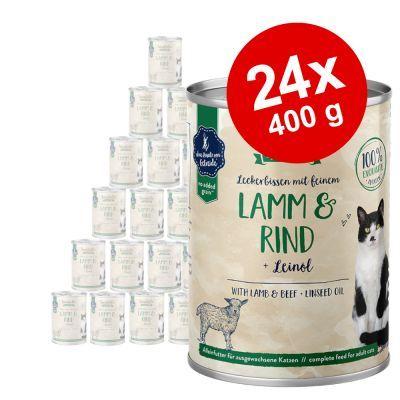 Sanabelle All Meat -säästöpakkaus 24 x 400 g - taimen & nauta