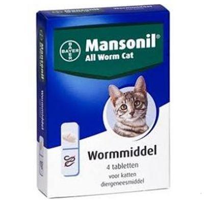 Mansonil All Worm Cat Tabletten - Dubbelpak: 2 x 4 Tabletten