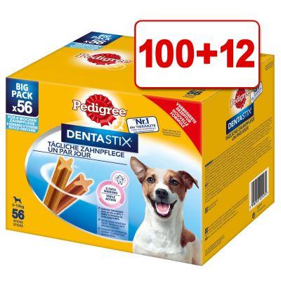 112 kpl Pedigree Dentastix: 100 + 12 kpl kaupan päälle! - Keskikokoisille koirille