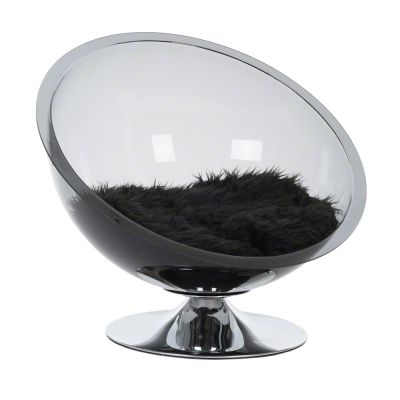 Retro Pet Nest Grey - Ø 60 cm, väri: läpikuultava harmaa/musta