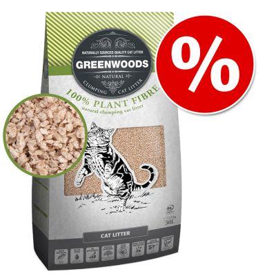 Greenwoods-kissanhiekat erikoishintaan! – 14 kg paakkuuntuvaa luonnonsavihiekkaa zeoliitilla