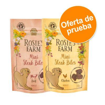 Rosie's Farm Mini Steak Bites - Oferta de prueba - 2 x 70 g: pollo y vacuno