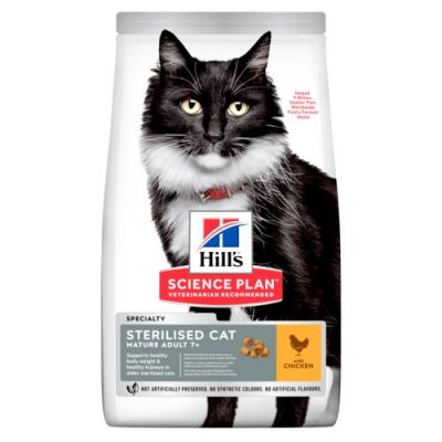10kg Mature Adult 7+ Sterilised Cat Hill's Science Plan