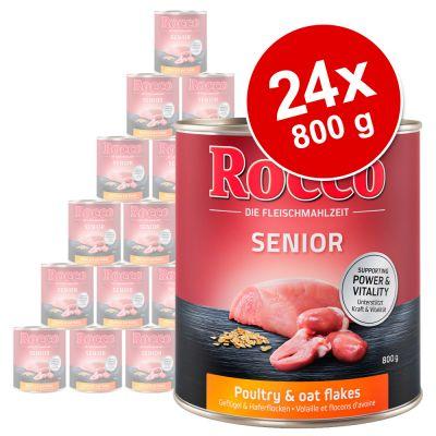 Rocco Senior -säästöpakkaus 24 x 800 g - lammas & hirssi