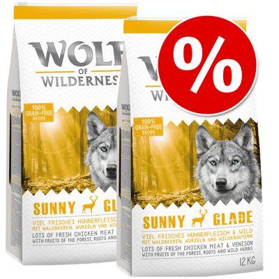 dubbelpak-2-x-12-kg-wolf-of-wilderness-hondenvoer-wild-hills-eend