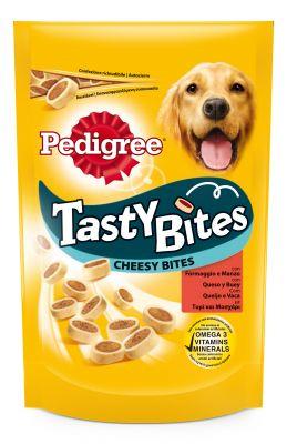 Pedigree Tasty Bites snacks para perros - Cheesy Nibbles con queso y vacuno 6 x 140 g - Pack Ahorro
