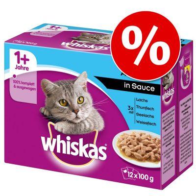 Whiskas en bolsitas  96 x 85/100 g - Megapack Ahorro - Casserole Selección de aves en gelatina Junior (96 x 85 g)