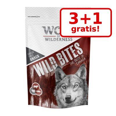 3 + 1 på köpet! 4 x 180 g Wolf of Wilderness Wild Bites Snacks – Wide Acres – Chicken