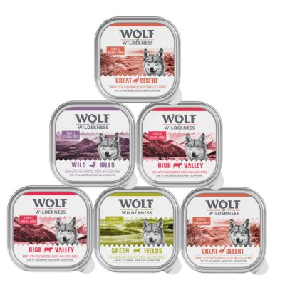 Mix-Paket Wolf of Wilderness Adult - 6 x 300 g Schale