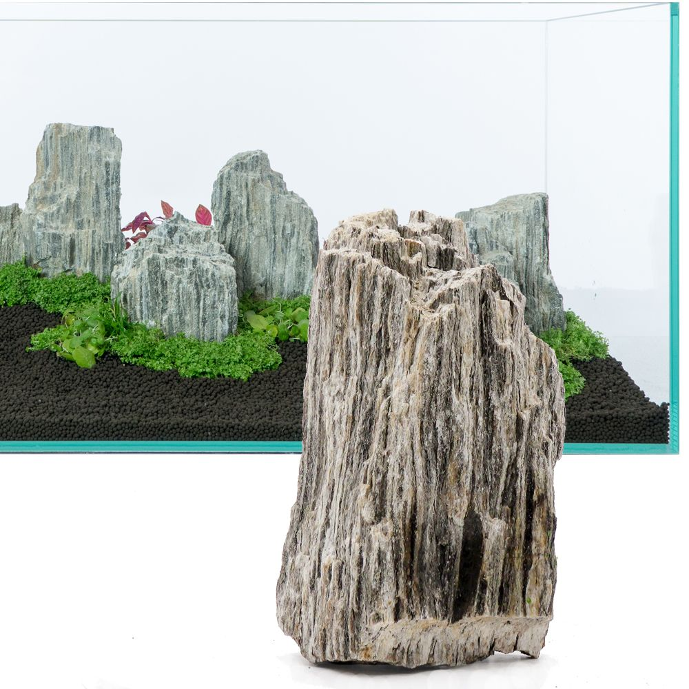 Glimmer Wood Rock Aquarium Decoration