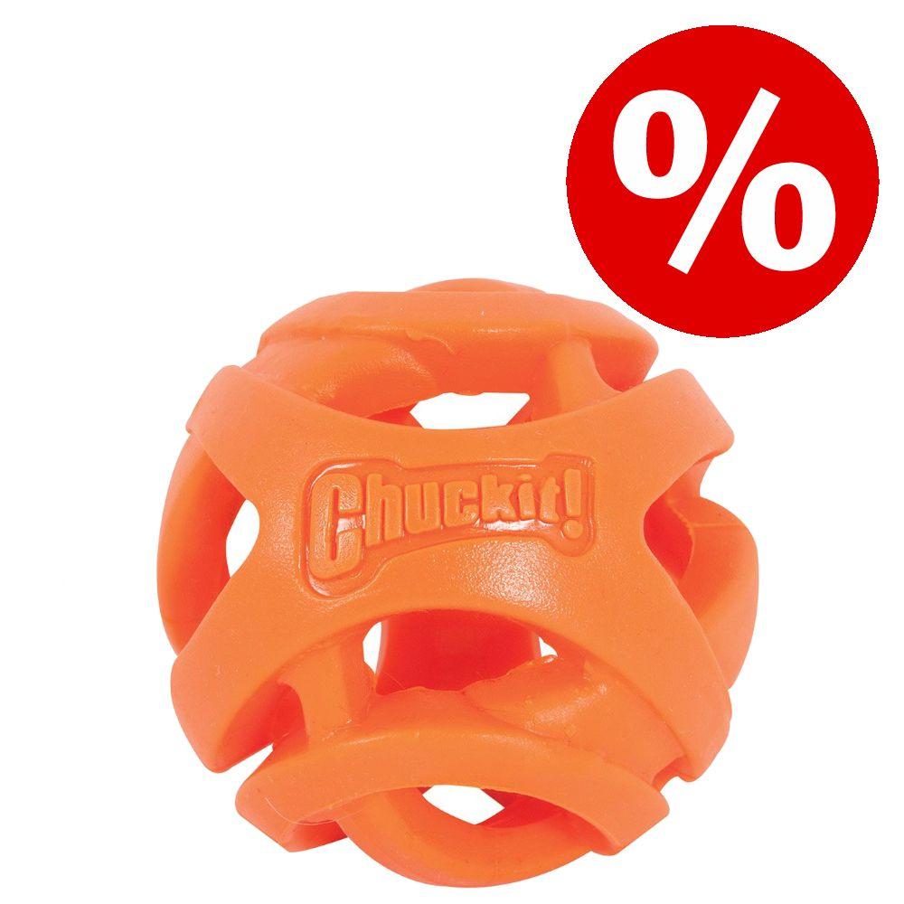 Der hochwertige Spielball für Hunde Chuckit! Breath Right Fetch Ball! ist speziell für weite Würfe und langanhaltenden Spielspass konzipiert. Er besteht aus sehr strapazierfähigem thermoplastischem Gummi (TPR) und ist dank seiner leuchtend orangen Farbgebung jederzeit leicht w...