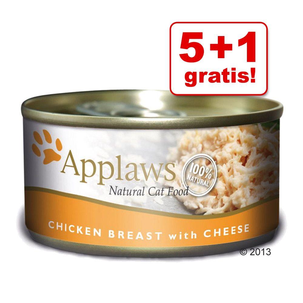 Image of 5 + 1 gratis! 6 x 70 g Applaws - Kitten MIX 3 gusti