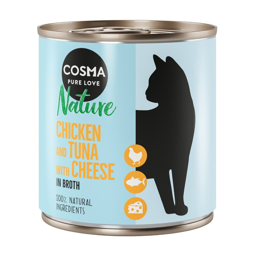 Cosma Nature 6 x 280 g Kyckling & tonfisk med ost