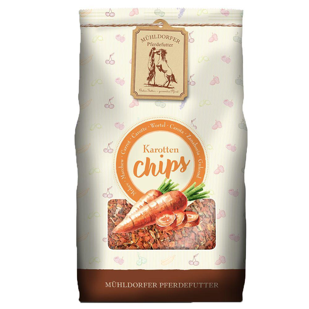 4x3,5kg Chips à la carotte Mühldorfer, pour chien et cheval