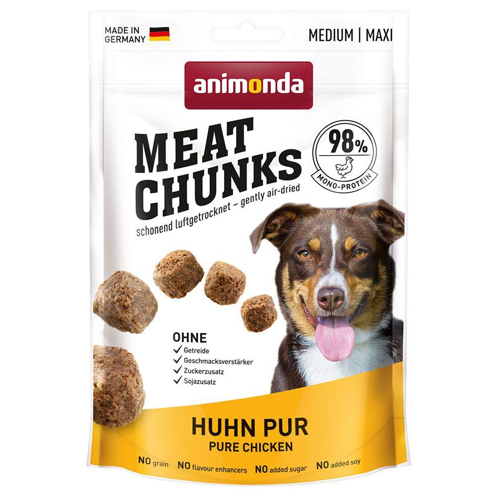 Image of Animonda Meat Chunks Medium / Maxi - Set %: 4 x 80 g Manzo puro