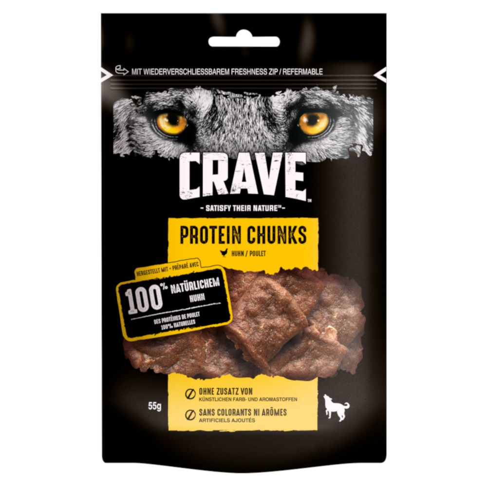 Chicken Protein Chunks Crave Dog Snacks