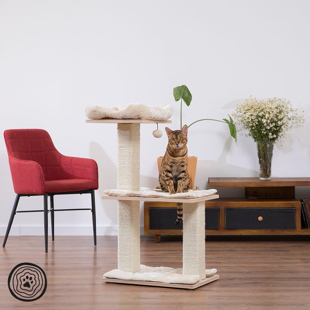 Arbre à chat Natural Paradise Quadra I - crème - H 103 x L 68 x B 38 cm