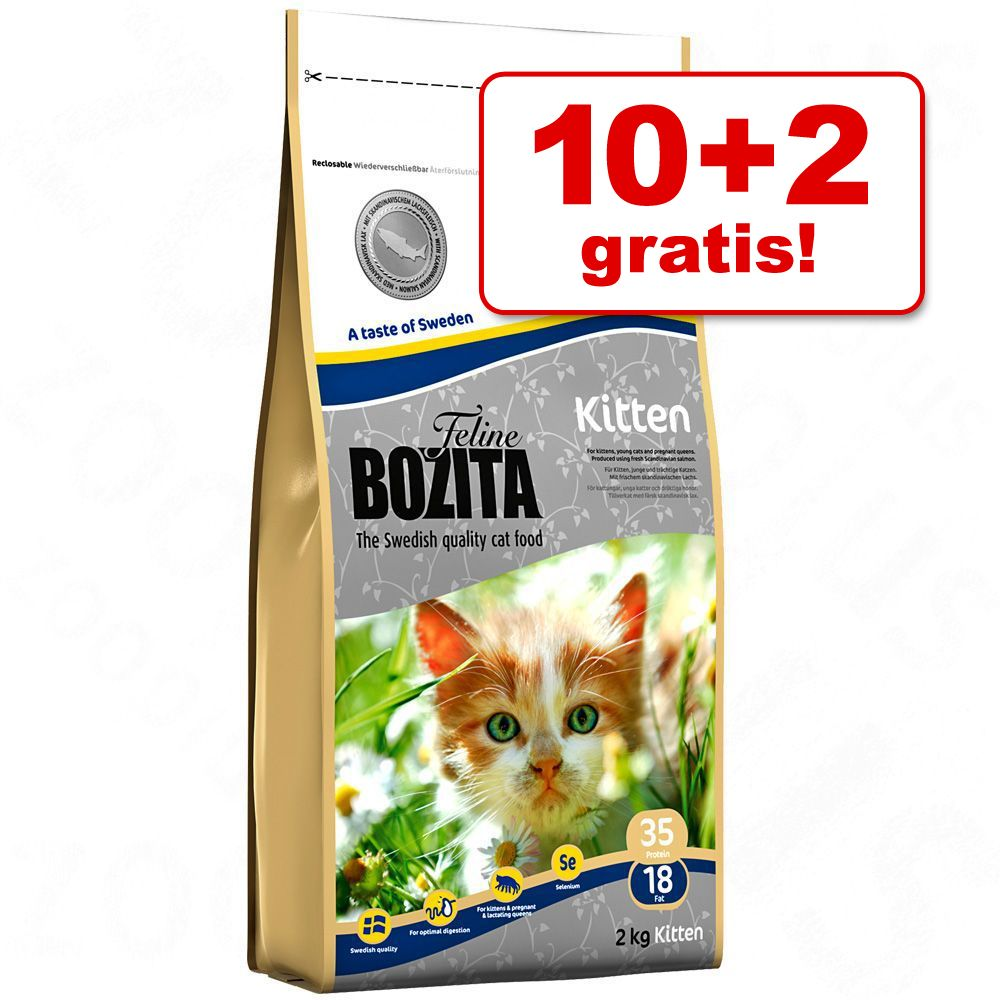 10 + 2 kg på köpet! 12 kg Bozita Feline kattmat - Sensitive Diet & Stomach