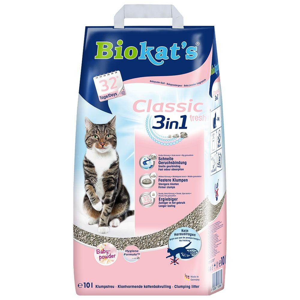 Image of Lettiera Biokat's Classic Fresh 3in1 - al borotalco - 10 l