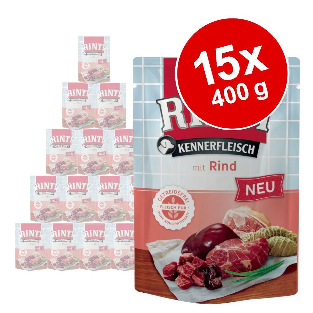 RINTI Kennerfleisch Pouches 15 x 400 g - Rind