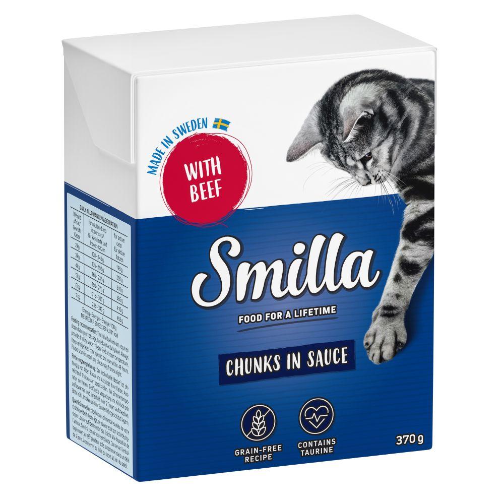 Blandpack: Smilla bitar i sås eller gelé 24 x 370 / 380 g Blandpack med sås & gelé: 6 sorter