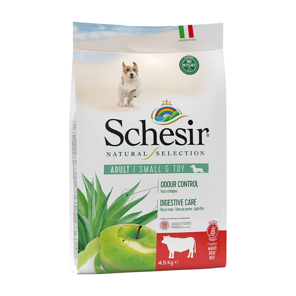 Schesir Natural Selection Adult Small Breed mit Rind - 4,5 kg