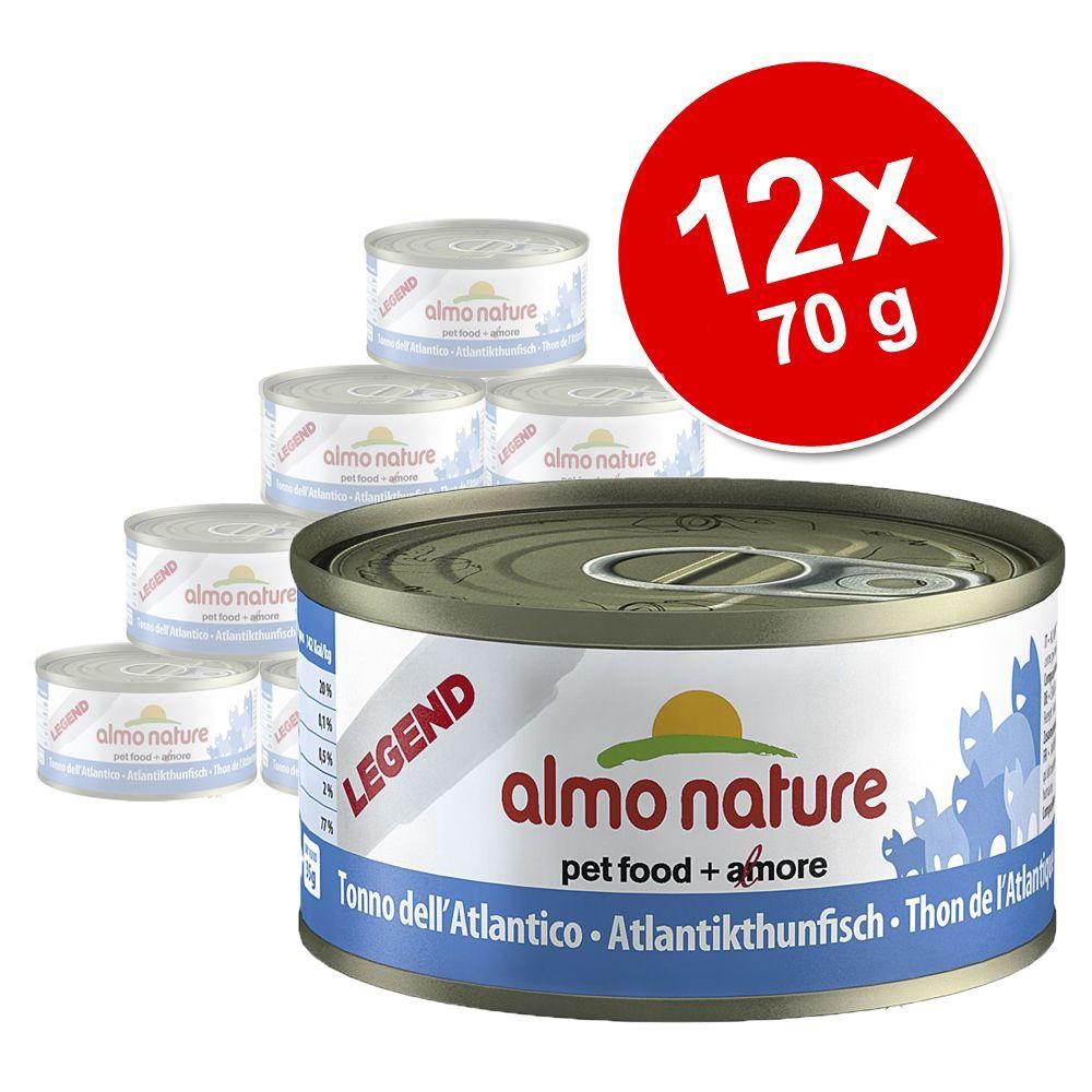 Ekonomipack: 12 x 70 g Almo Nature Legend – Kyckling & pumpa