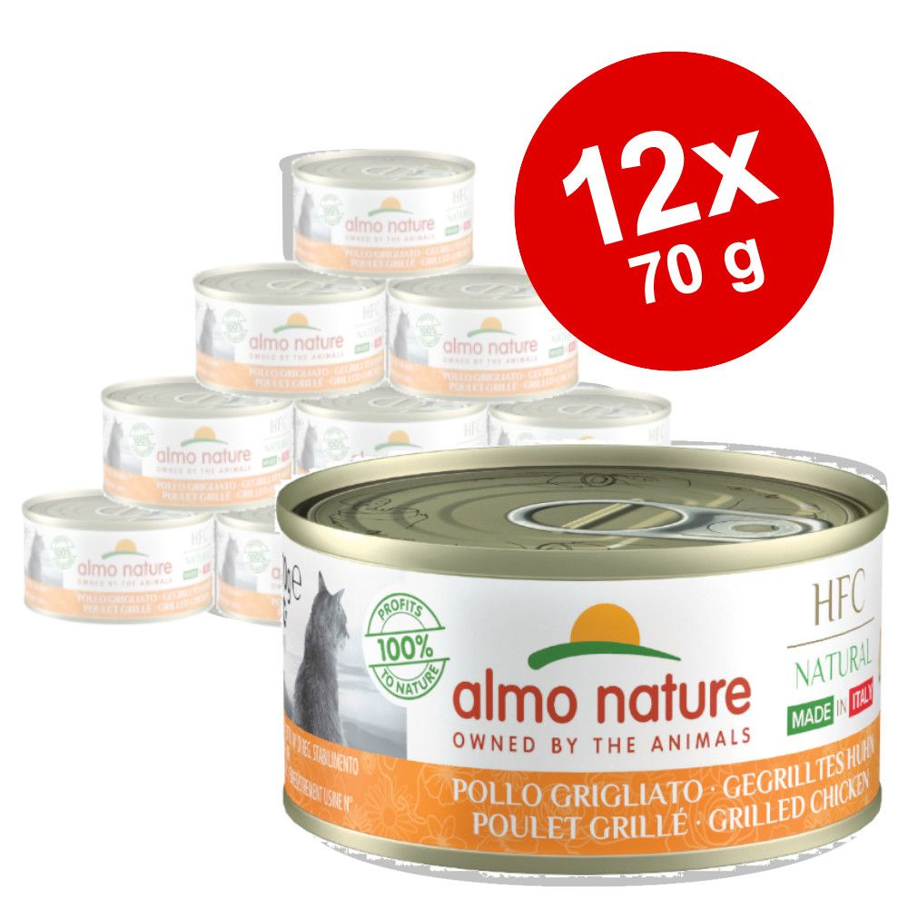Sparpaket Almo Nature HFC Natural Made in Italy 12 x 70g - Gegrillter Truthahn