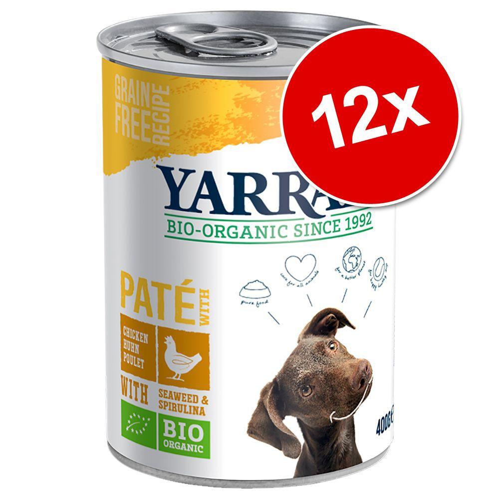 Ekonomipack: Yarrah Organic 12 x 400 g /405 g - Kyckling med nässlor och tomat i sås (12 x 405 g)
