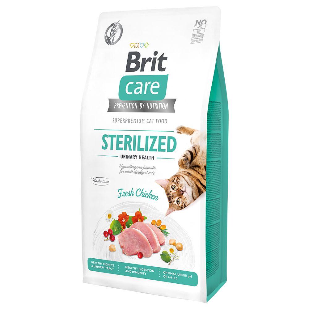 7kg Brit Care Grain-Free Sterilized Urinary Health - Croquettes pour chat