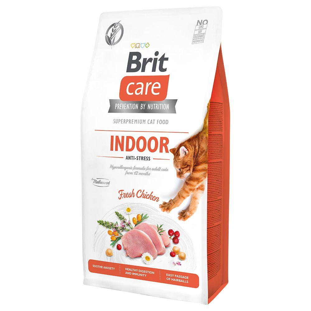 2x7kg Brit Care Grain-Free Indoor Anti-stress - Croquettes pour chat