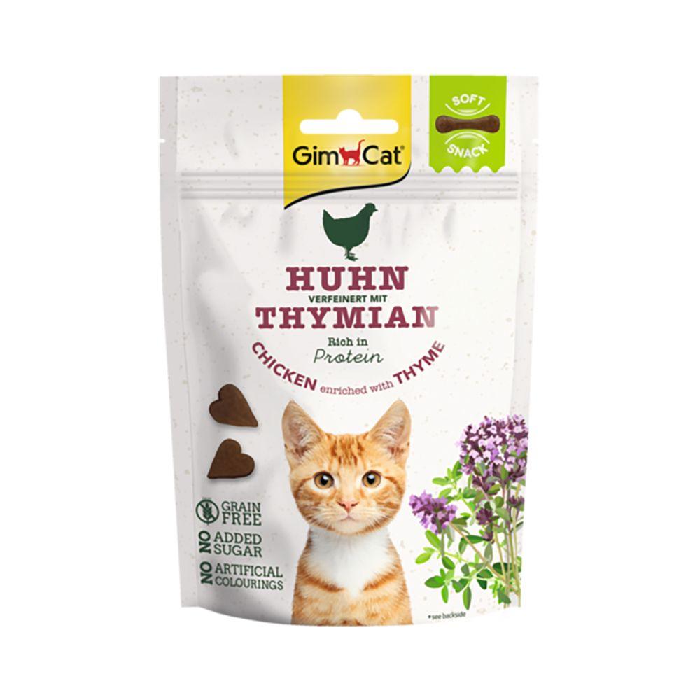 Image of GimCat Soft Snack Pollo & Timo - Set %: 3 x 60 g
